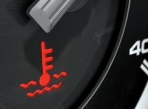car overheating warning light